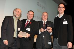 SAGE's Huw Alexander at the TechDis Awards presentation