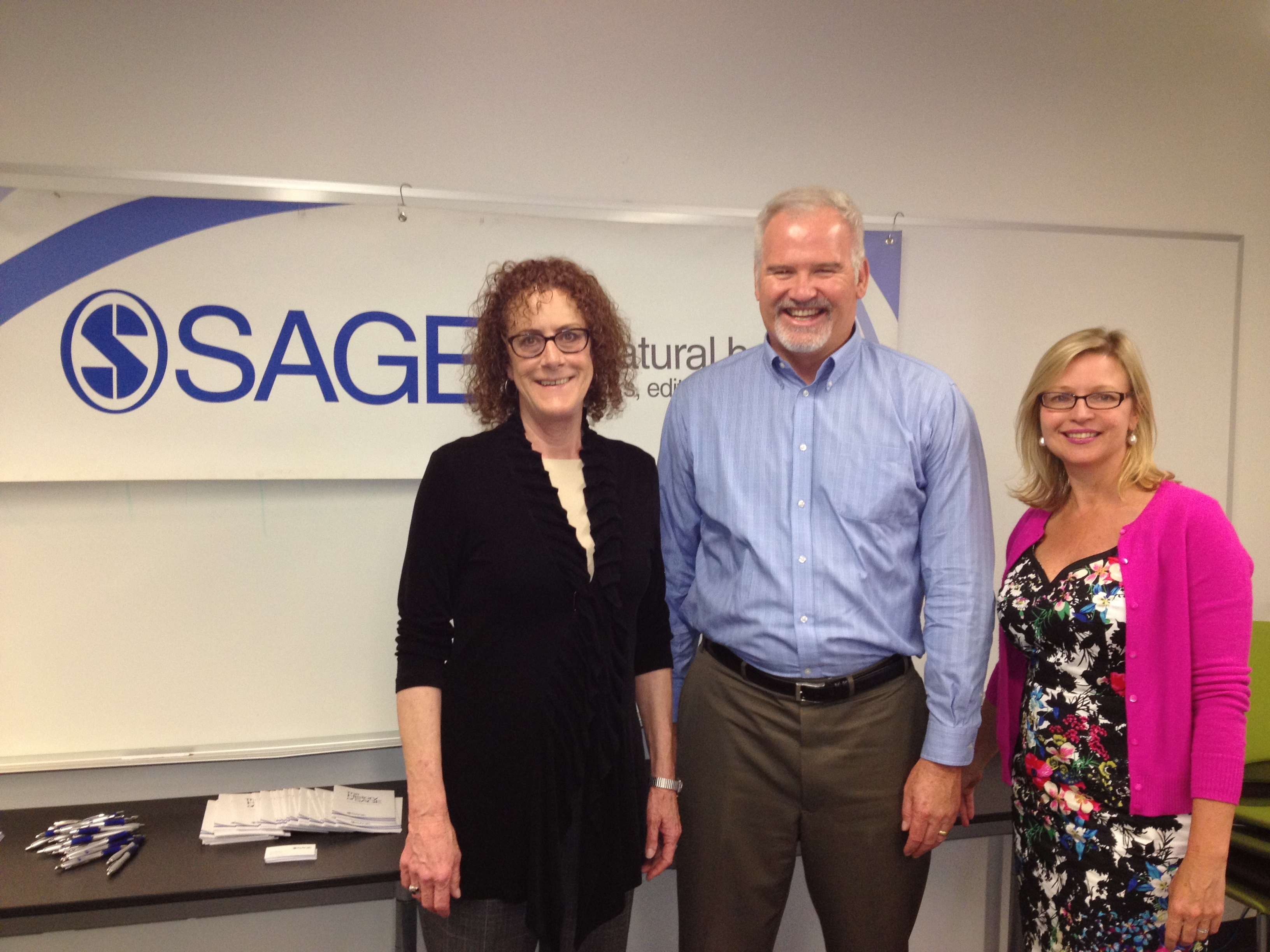 Karen T. Carey, Associate Vice President for Arts and Sciences, CSU Channel Islands, Jim Gilden, and Diane McDaniel