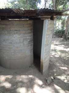 14-Pit latrine - domeslab with Curved Interlock ISSBs